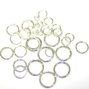 Round Jump Rings - Silver Plated